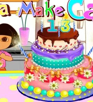 Decora pastel con Dora