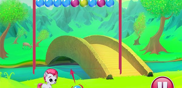 juegos burbujas unicornio