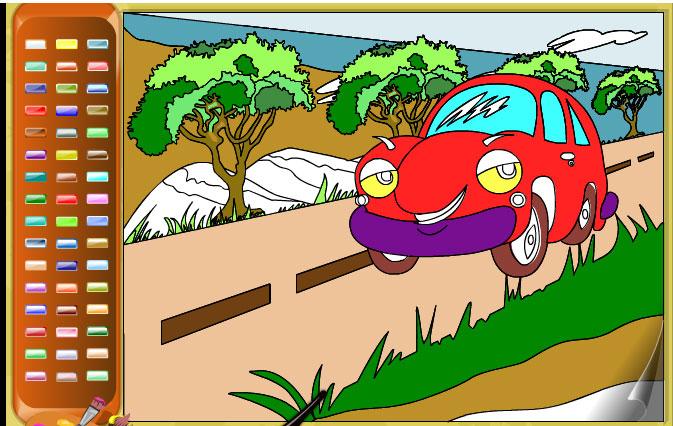 Car coloring 2