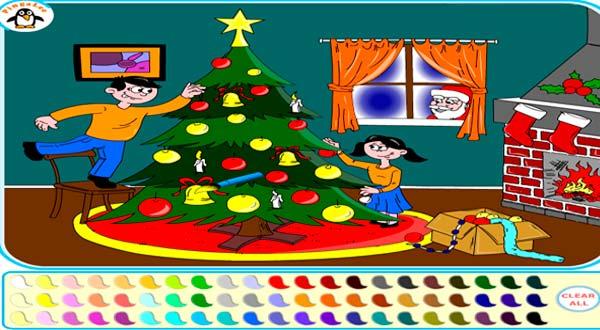 Colorea Navidad