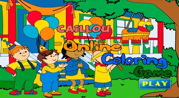 Colorear Caillou