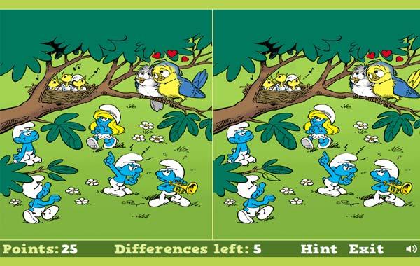 Diferencias  Pitufos